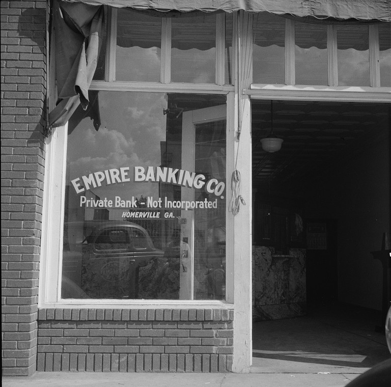 Bank at Homerville, Georgia 1937 Lange