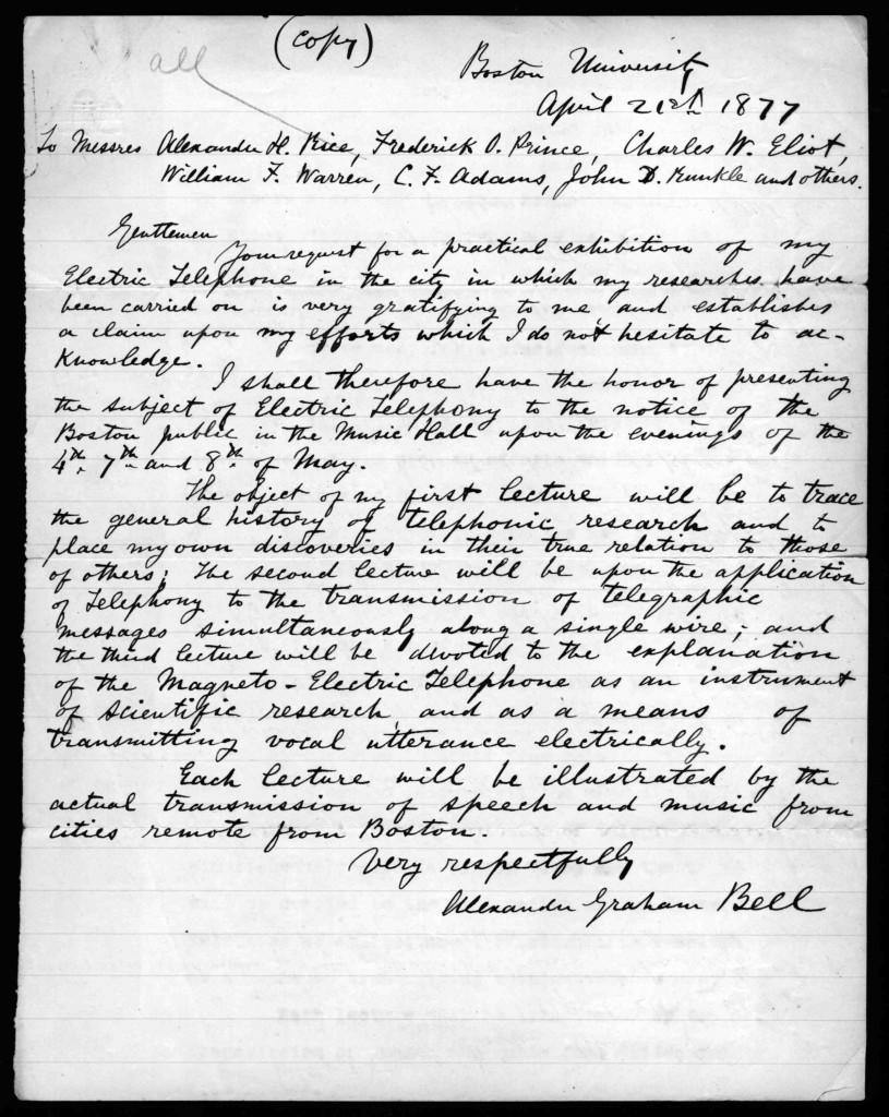 Bell Letter 1877