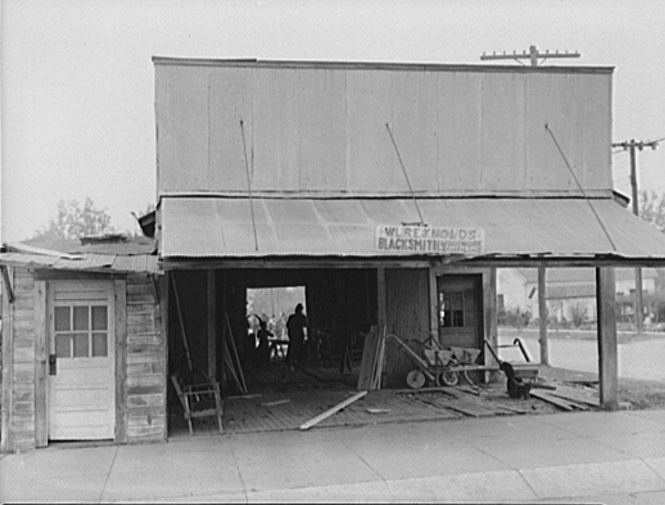 Blacksmith shop. Greene County, Georgia apr 1939