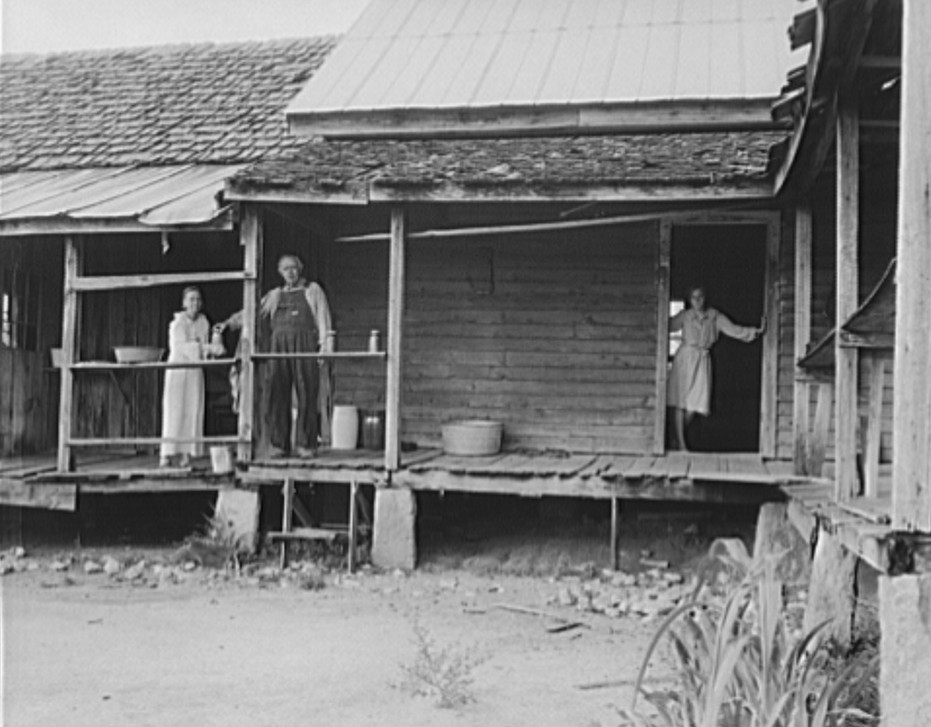 Home of farmer who has raised cotton for fifty years on his own land. Greene County, Georgia 1937 dorothea lange
