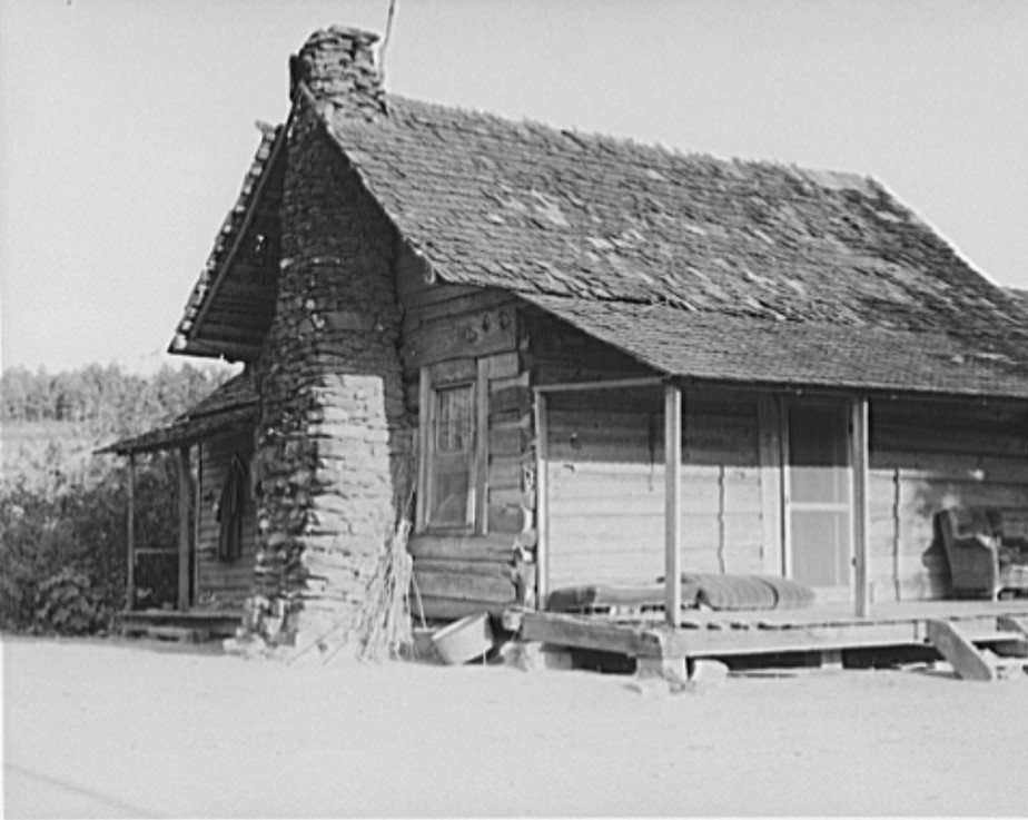 House occupied by sharecropper family for seven years. Near Hartwell, Georgia 1937 lange