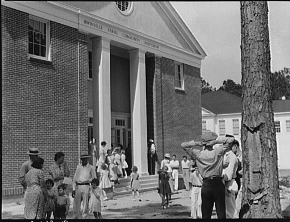 Irwinville Farms community auditorium on May Day-Health Day, Georgia