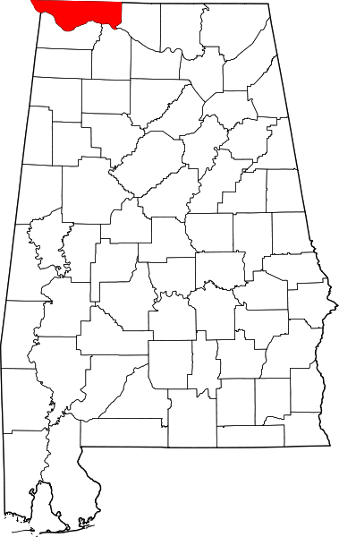 Lauderdale_County_Alabama map
