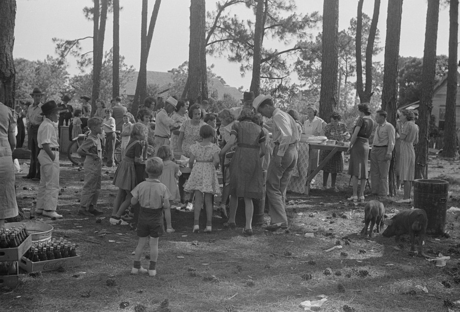 Picnic at Irwinville Farms, Georgia, on May Day