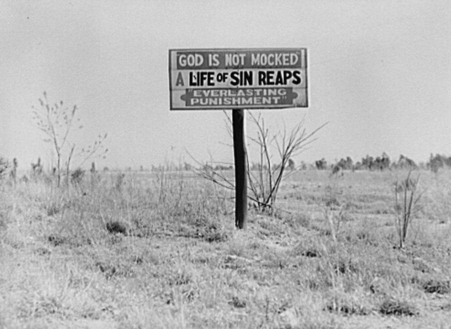 Religious signs along highway2. Georgia may 1939