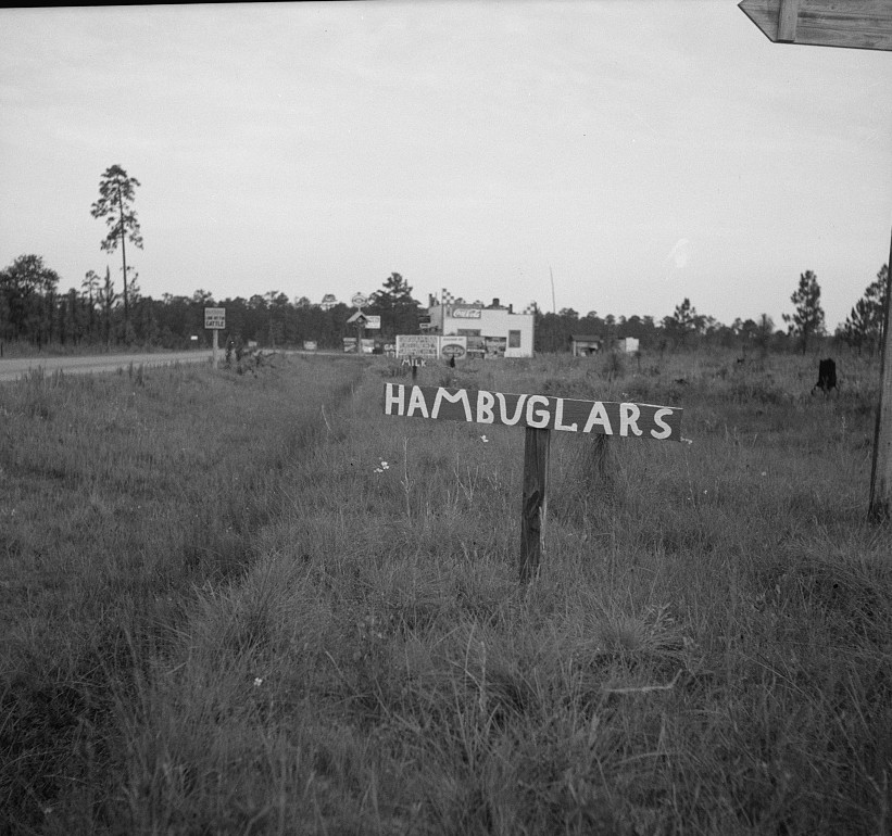 Road signs2 photographed by Dorothea Lange 1937