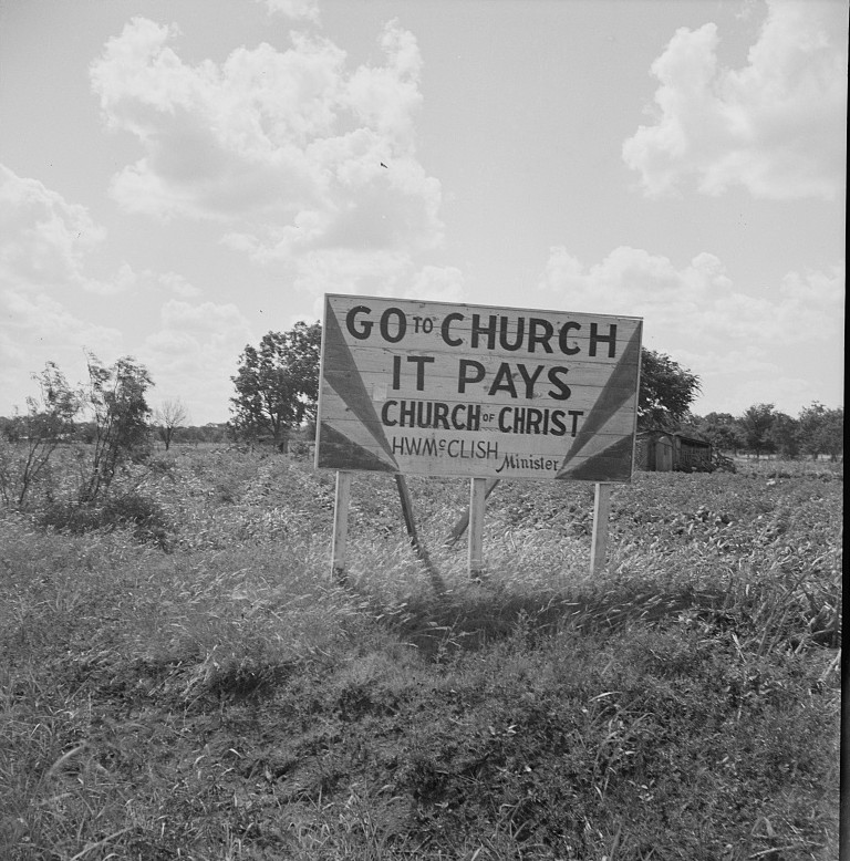 Road signs3 photographed by Dorothea Lange 1937
