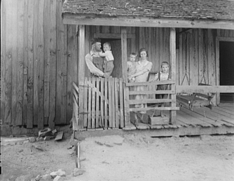 Tenant family with six children who are rural rehabilitation clients of the Farm Security Administration. Greene County, Georgia2 1937 dorothea lange