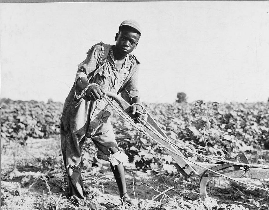 Thirteen-year old sharecropper boy near Americus, Georgia 1937 Lange