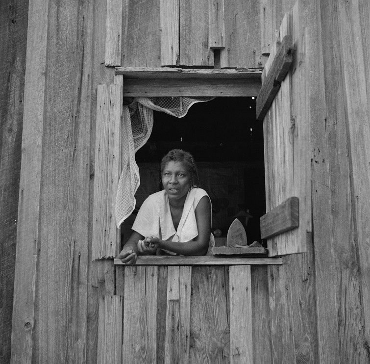 Wife of turpentine worker near DuPont, Georgia July 1937 by Dorothea Lange