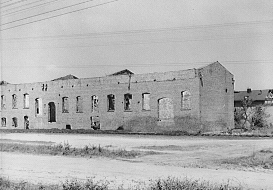 cotton house without roof - m. post wolcott may 1939