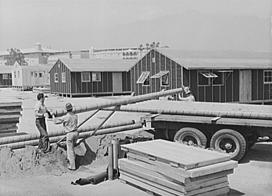Construction work on accommodations at Santa Anita reception center