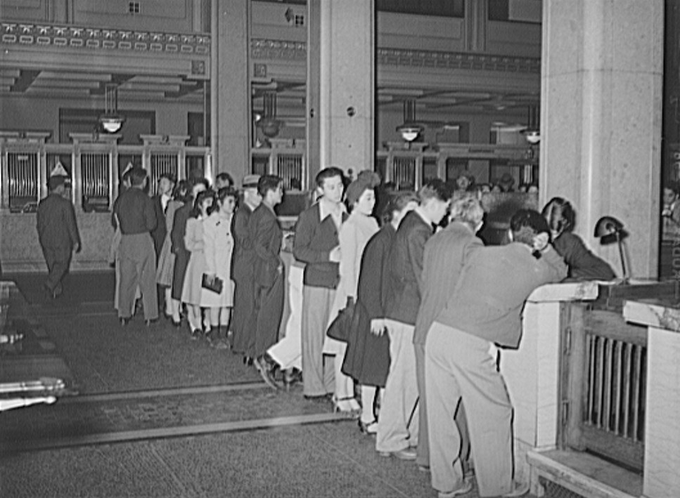 TrainThe evacuation of Japanese-Americans from West coast areas under United States Army war emergency order