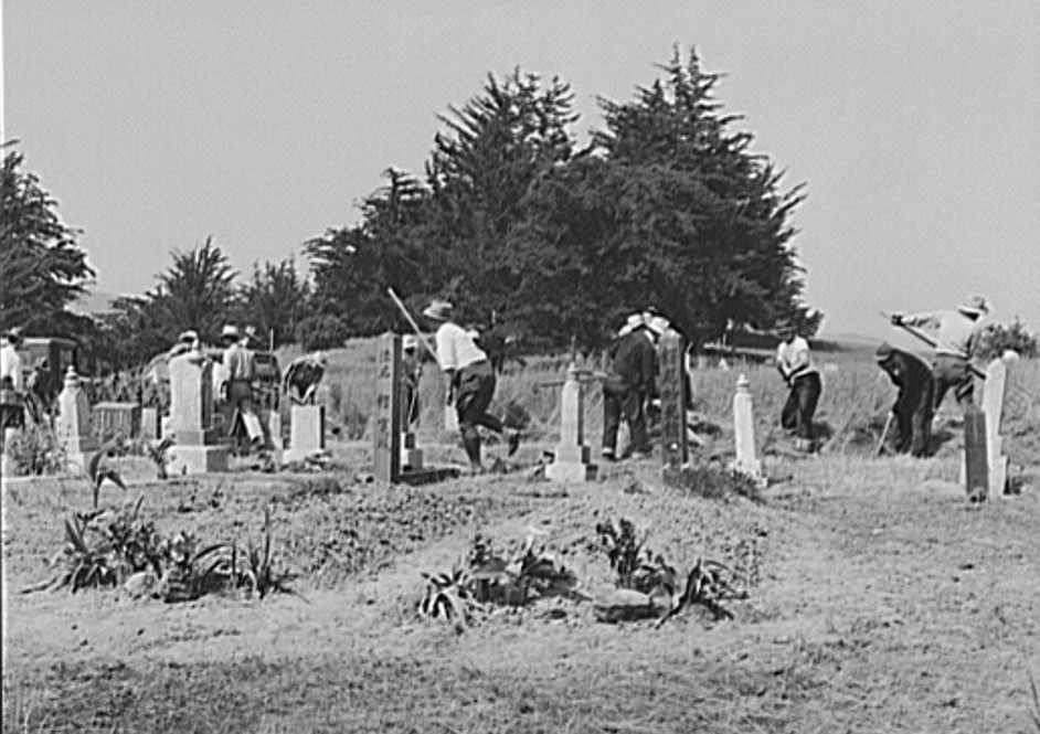 clean cemetery may 1942