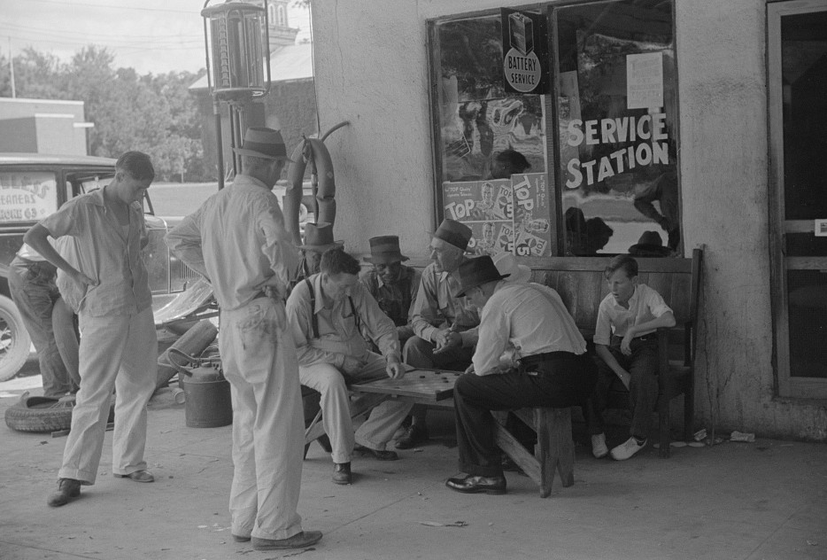 playing cards in Greensboro 1939