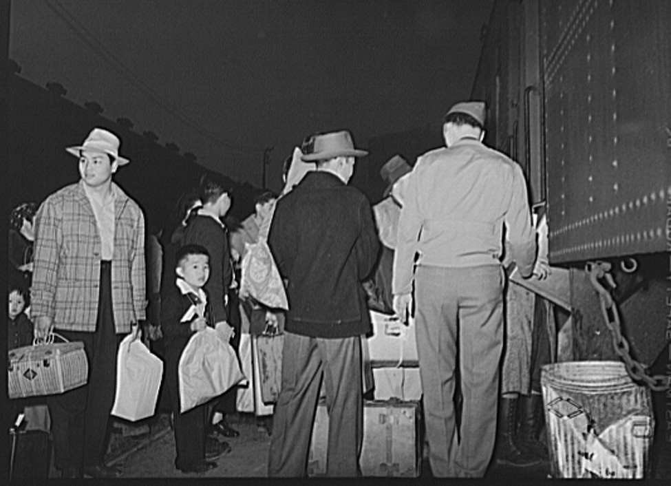 train The evacuation of Japanese-Americans from West coast areas under United States Army war emergency order3