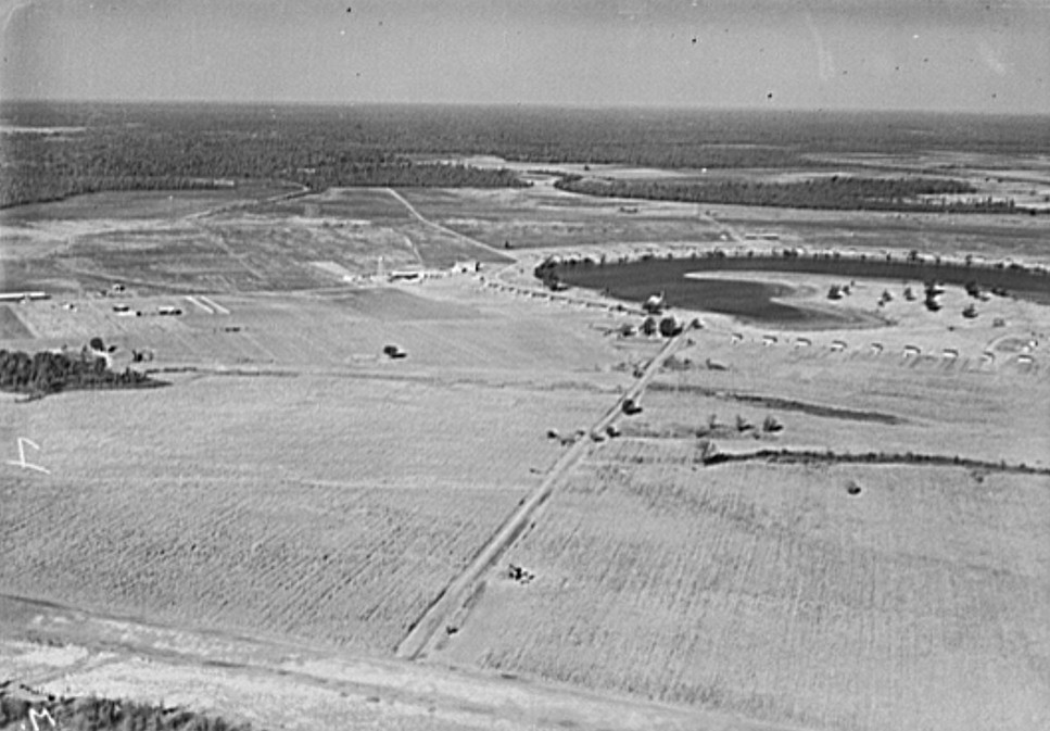 Airview of Lake Dick project, Arkansas. Taken by Arkansas National Guard