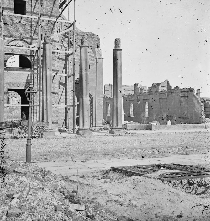 Charleston, South Carolina. Remains of Circular Church and Secession Hall 1865