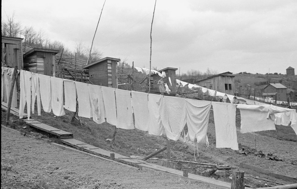 Clothes lines and privies. Kempton, West Virginia