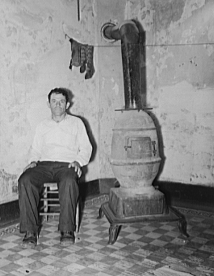Coal miner during May 1939 strike. Kempton, West Virginia