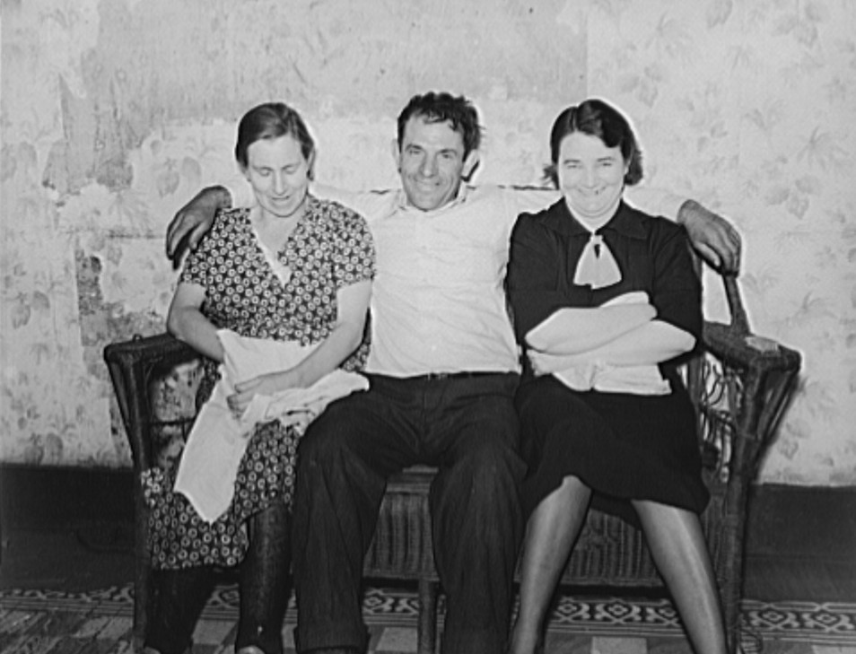 Coal miner with wife and neighbor. Kempton, West Virginia