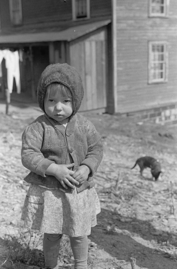 Coal miner's daughter in company town, Kempton, West Virginia2