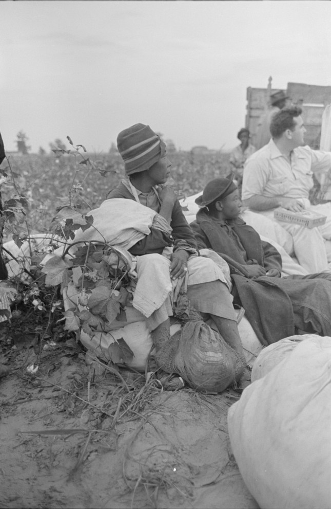 Day laborers, cotton pickers, in field2, Lake Dick Project, Arkansas