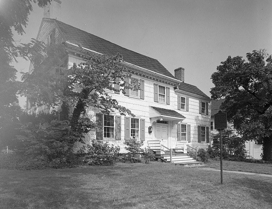 East Facade Looking North- Burrowes Mansion, 94 Main Street, Matawan, Monmouth County, NJ
