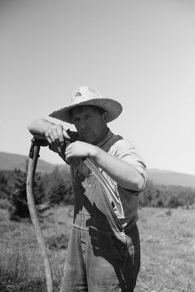 Farmer near Lowell, Vermont