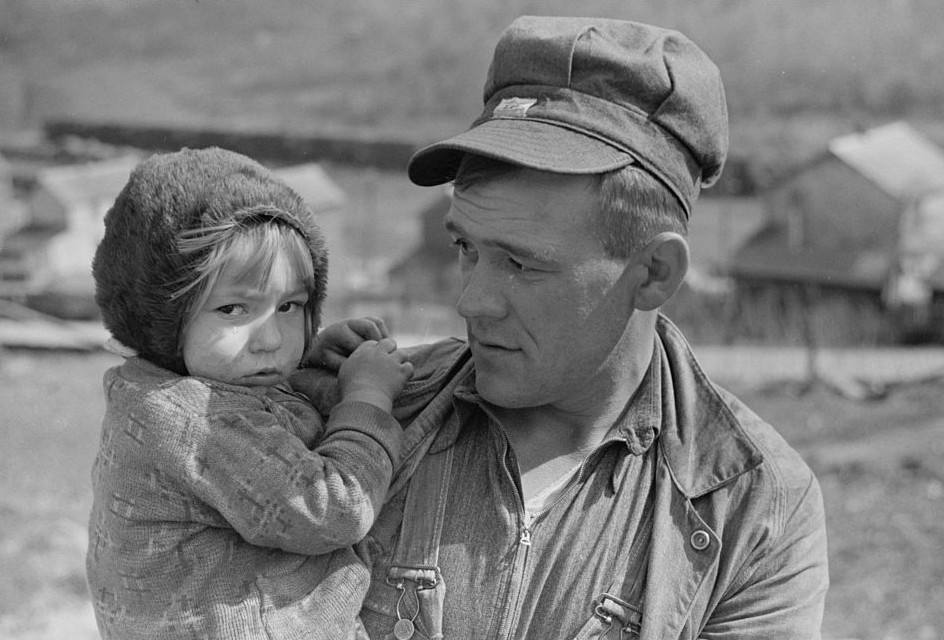 Father and daughter, Kempton, West Virginia