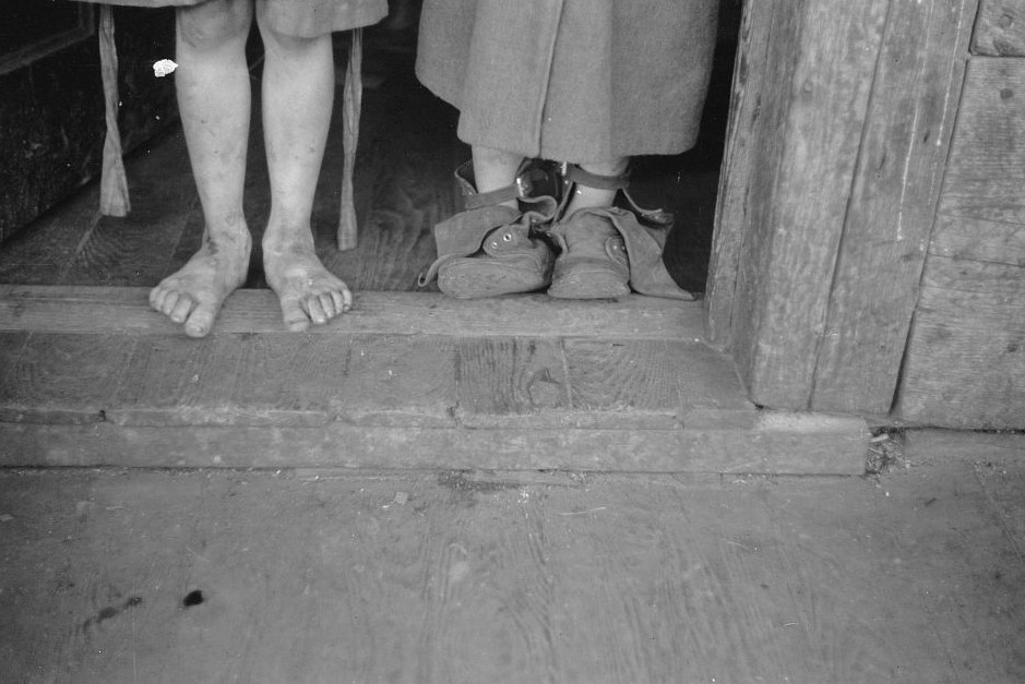 Feet of children of George Blizzard, Coal miner, Kempton, West Virginia