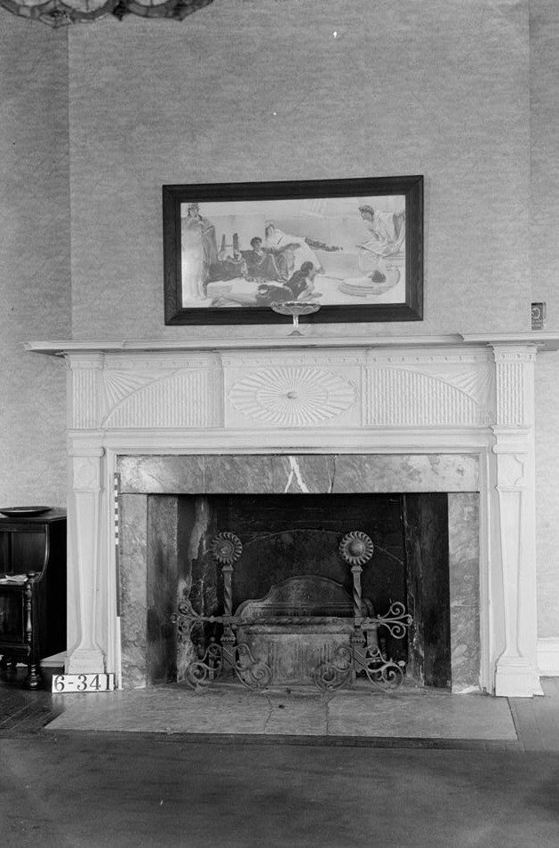 Franklin house Nathaniel R. Ewan, Photographer October 16, 1936 southeast bedroom - mantel detail
