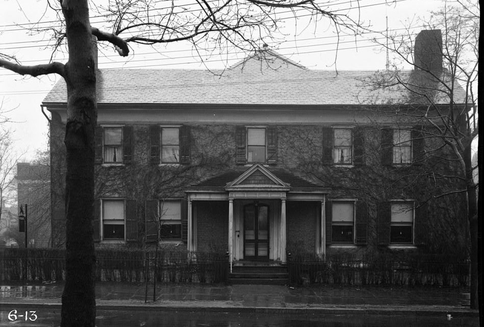 Governor Belchers mansion R. Merritt Lacey, Photographer April 7, 1936 EXTERIOR - NORTH ELEVATION - Governor Belcher Mansion, 1046 East Jersey Street, Elizabeth, Union County, NJ