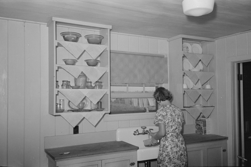 Kitchen in farm home, Lake Dick Project, Arkansas lee russell