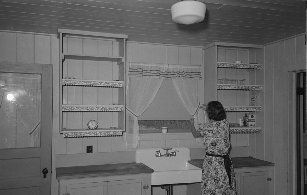 Kitchen in farm home, Lake Dick Project, Arkansas3 lee russell