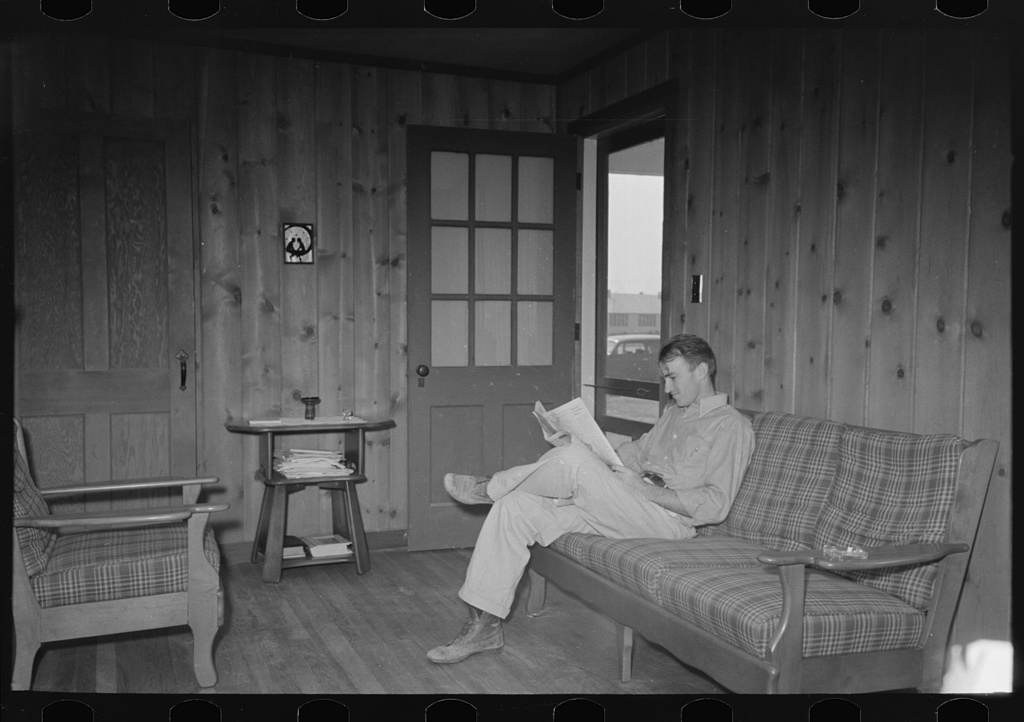 Lake Dick Farmer in home, Lake Dick Project, Arkansas