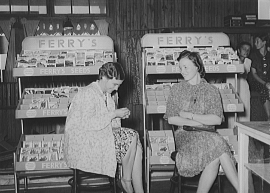 Lake Dick Wives of cooperative farmers sitting in cooperative general store waiting for the mail. Lake Dick Project, Arkansas
