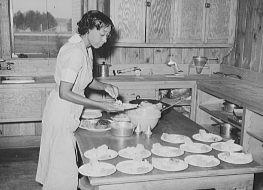 Lunch is prepared for the school children at Lake Dick Oct 1938