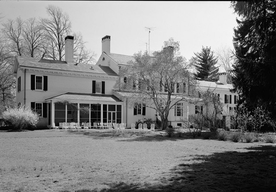 Morven general view of north rear 1964 by photographer Jack E. Boucher