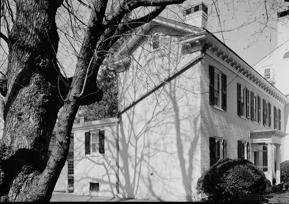 Morven general view of side elevation 1964 by photographer Jack E. Boucher