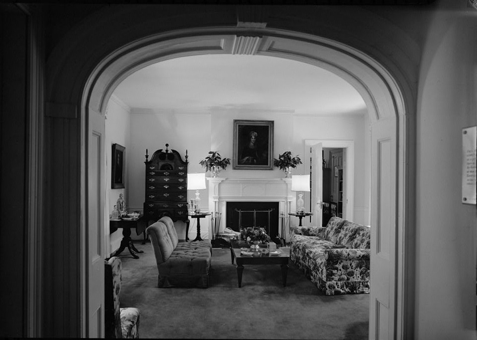 Morven view of east wing 1st floor 1964 by photographer Jack E. Boucher