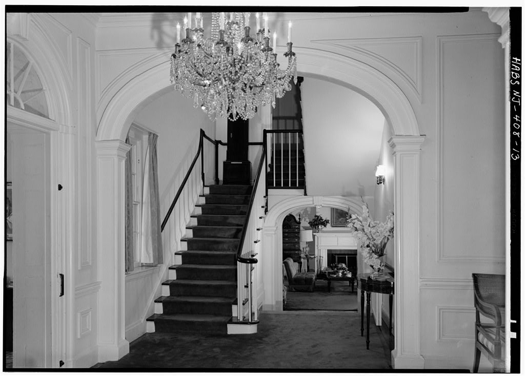 Morven view of main stairwell 1964 by photographer Jack E. Boucher