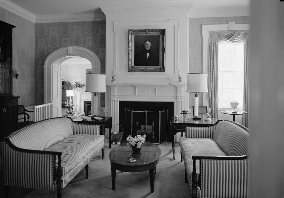 Morven view of room north to entrance hall 1964 by photographer Jack E. Boucher
