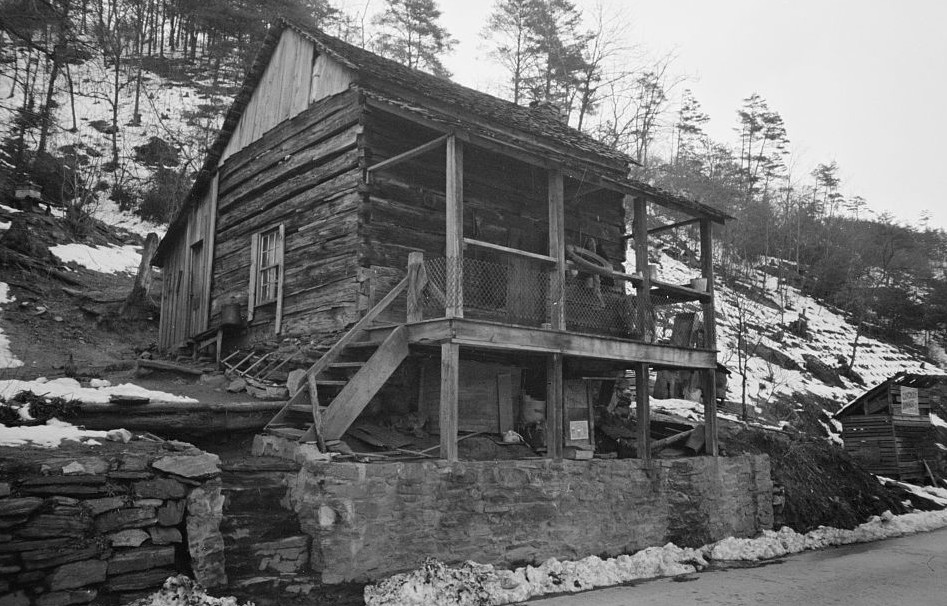 Mountain home, Appalachian Mountains, housed two white families carl mydans, march 1936