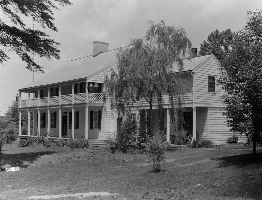 Nathaniel R. Ewan, Photographer July 8, 1936 East and Rear Elevations- Judge John Berrien House, Rocky Hill Road, Rocky Hill, Somerset County, NJ