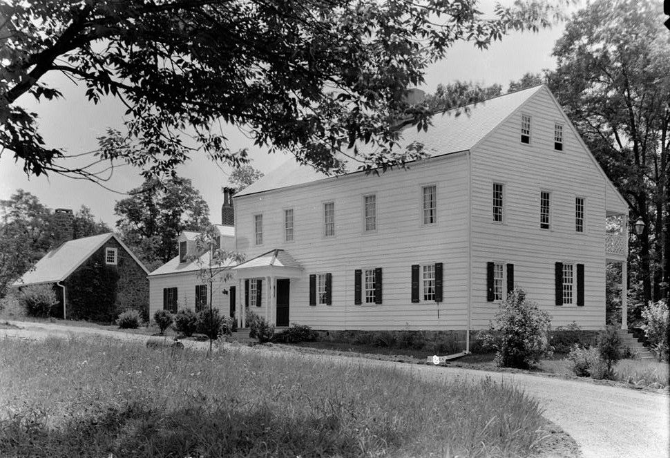 Nathaniel R. Ewan, Photographer July 8, 1936 West and South Elevations- Judge John Berrien House, Rocky Hill Road, Rocky Hill, Somerset County, NJ