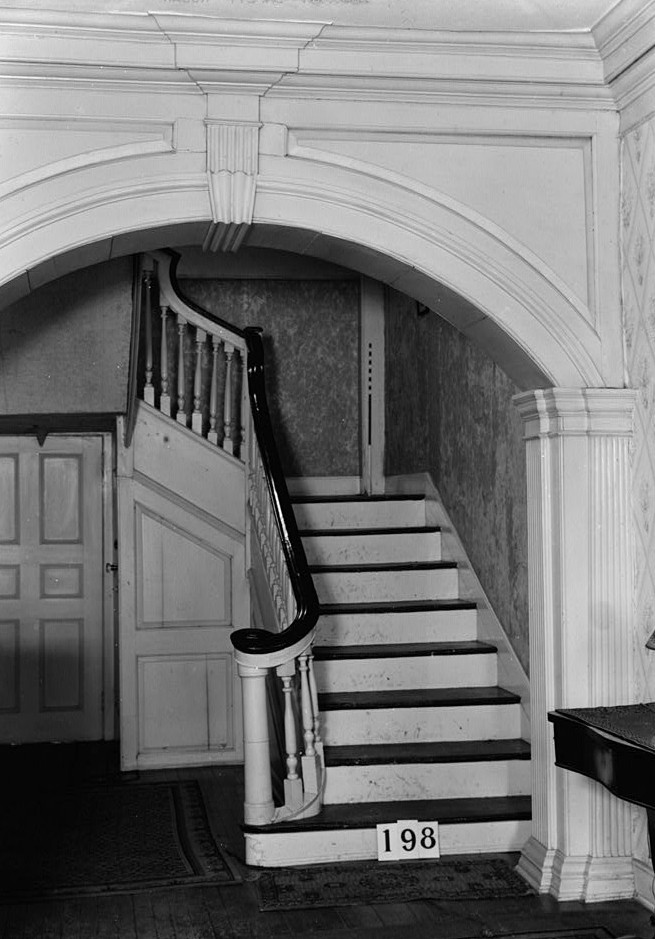 Nathaniel R. Ewan, Photographer June 24, 1936 Interior - Stair - Burrowes Mansion, 94 Main Street, Matawan, Monmouth County, NJ