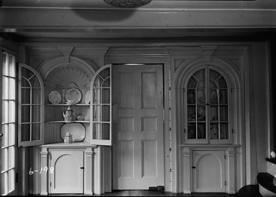 Nathaniel R. Ewan, Photographer June 24, 1936 Interior dining room west wall detail- Burrowes Mansion, 94 Main Street, Matawan, Monmouth County, NJ