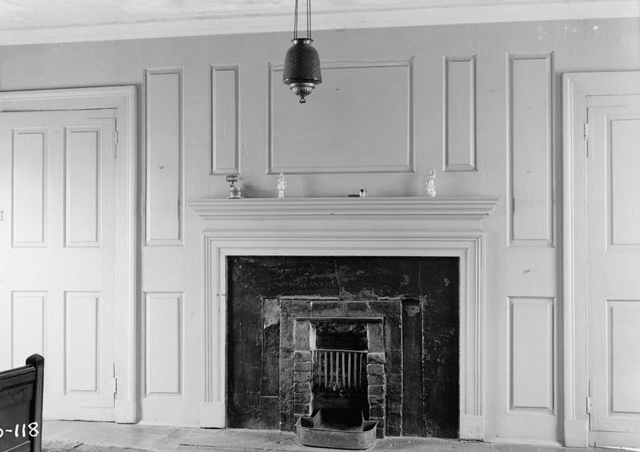 Nathaniel R. Ewan, Photographer May 7, 1936 Interior - Mantel and panel Detail - Parker Castle