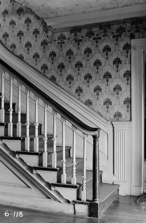 Nathaniel R. Ewan, Photographer May 7, 1936 Interior - Stairway detail - Parker Castle